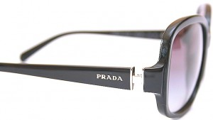 Prada designer frames at Designer Eyes Opticians in Hertford.