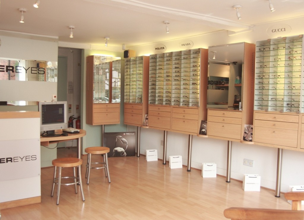 Welcome to Designer Eyes opticians in Hertford where you will find the best range of designer frames, designer sunglasses and optical care.